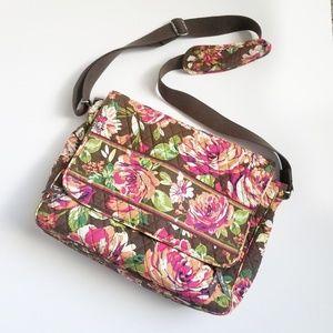 Vera Bradley English Rose Messenger Shoulder Bag